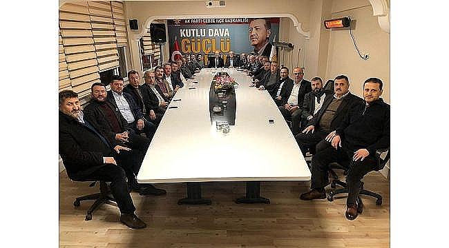 AK Parti Gebze'de yeni ve eski yöneticiler ilçe teşkilatında buluştu!