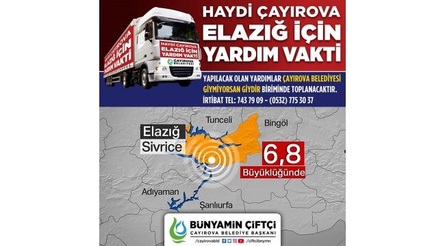 Çayırova Belediyesi Elazığ'a yardım eli uzattı!