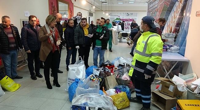 İzmit'te, Elazığ depremzedeleri için yardım kampanyası