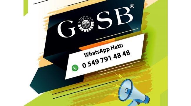 GOSB Whatsapp hattı açıldı
