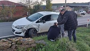 Gebze'de kaza, sürücü şoka girdi!