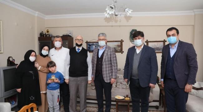 """Ellibeş'ten """"Efsane Muhtara"""" vefa ziyareti"""