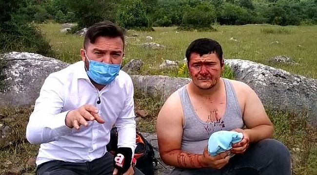 Lütfü Türkkan'ın çiftlik yıkımında gazeteciye saldırdılar!