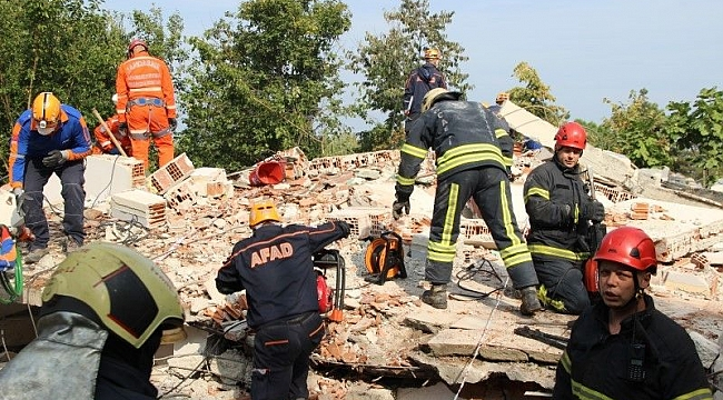 Kocaeli'de kentsel arama kurtarma tatbikatı yapıldı