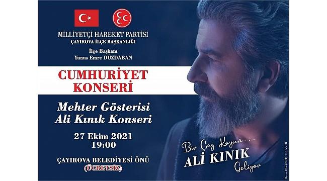 MHP Çayırova'dan Ali Kınık konseri!